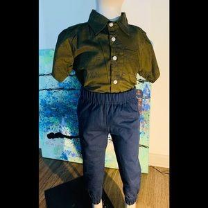 Boys 2 Piece Button -up W/Pants